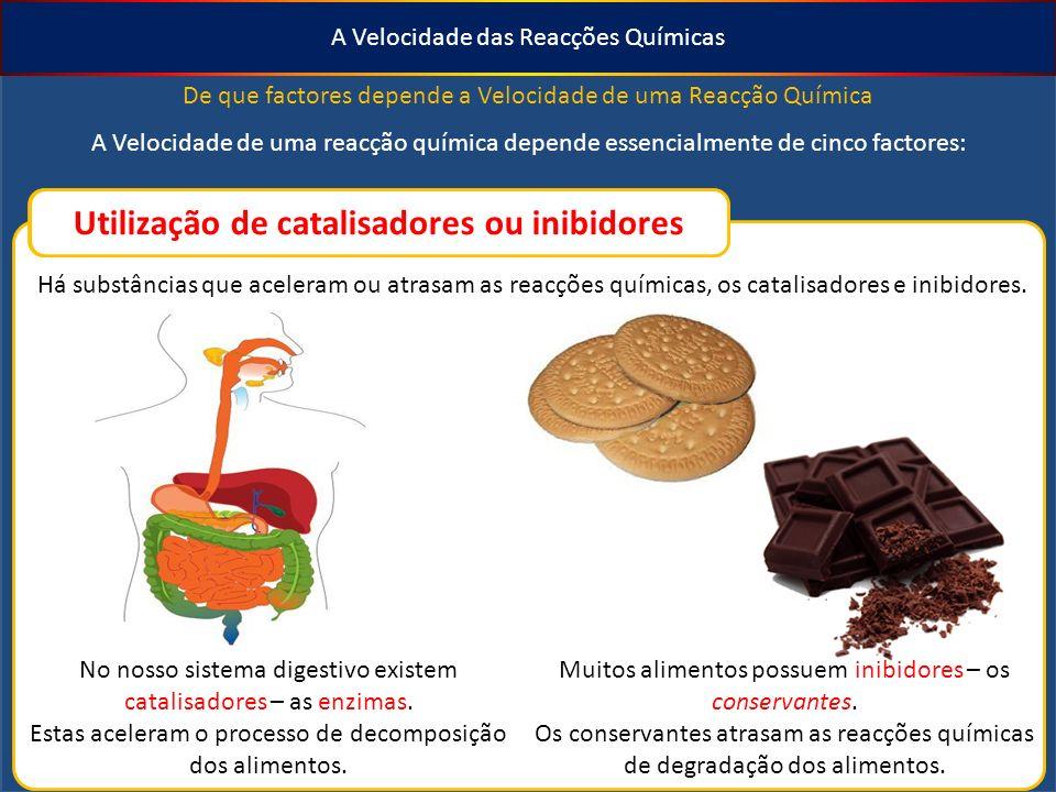 Utilização de catalisadores ou inibidores