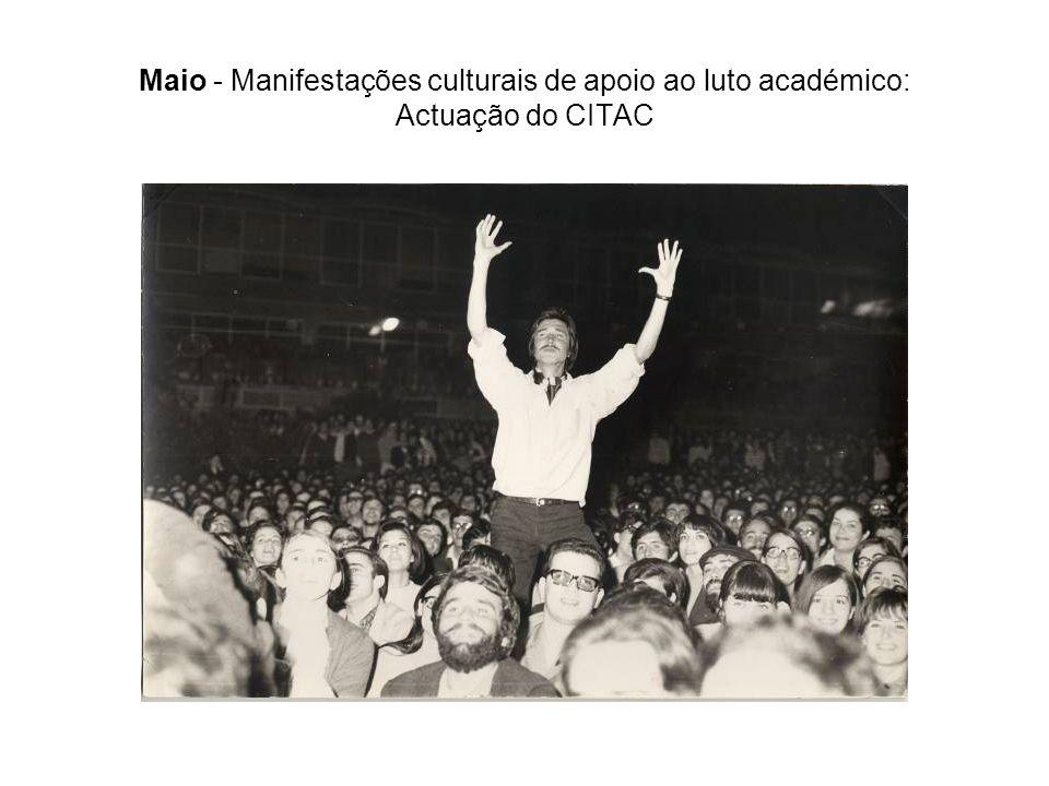 Maio - Manifestações culturais de apoio ao luto académico: Actuação do CITAC