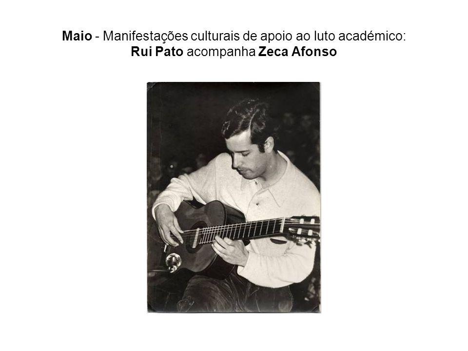 Maio - Manifestações culturais de apoio ao luto académico: Rui Pato acompanha Zeca Afonso
