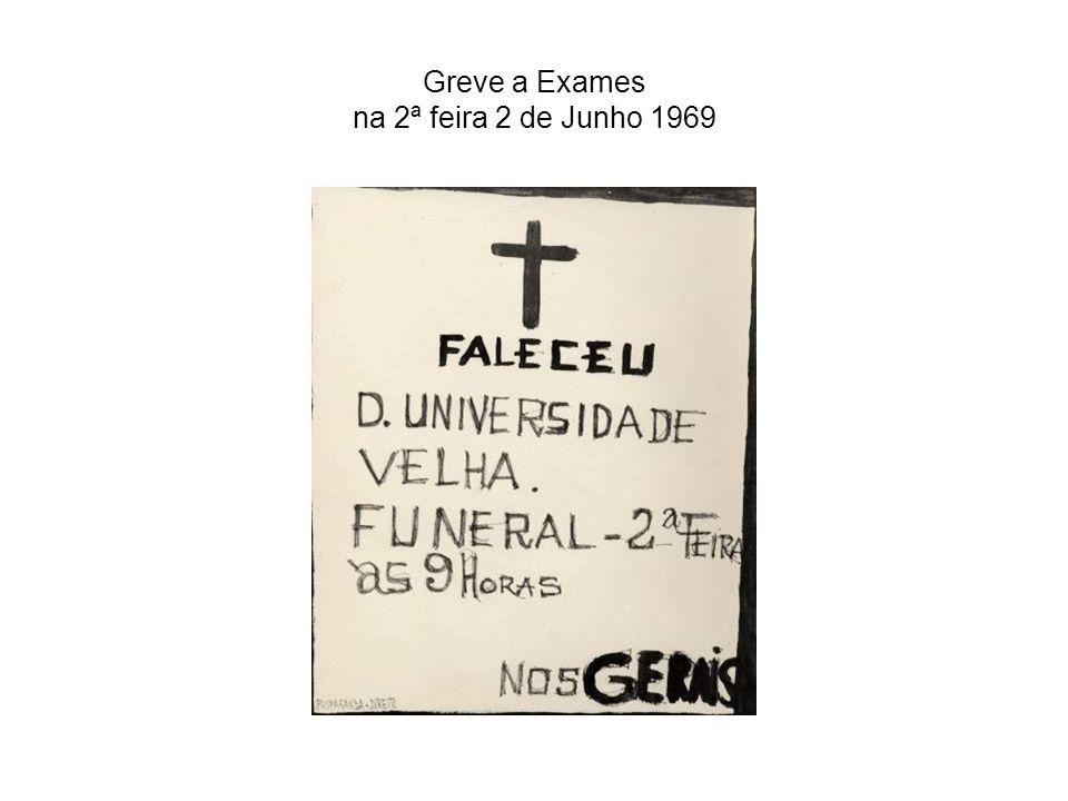 Greve a Exames na 2ª feira 2 de Junho 1969