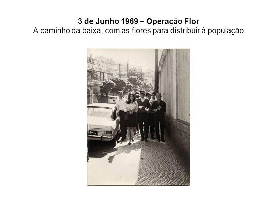 3 de Junho 1969 – Operação Flor A caminho da baixa, com as flores para distribuir à população