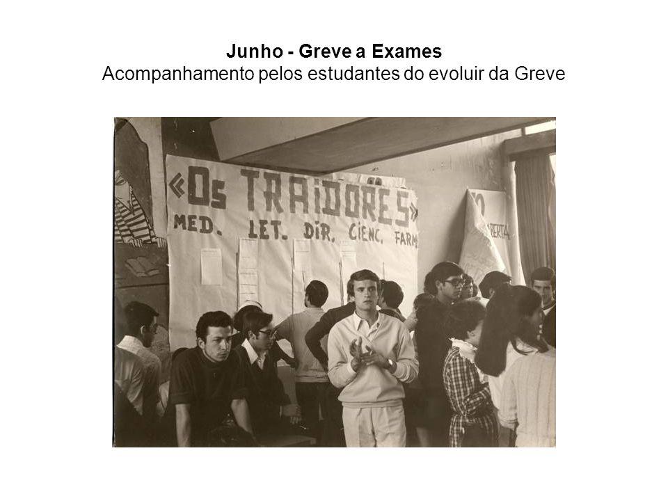 Junho - Greve a Exames Acompanhamento pelos estudantes do evoluir da Greve