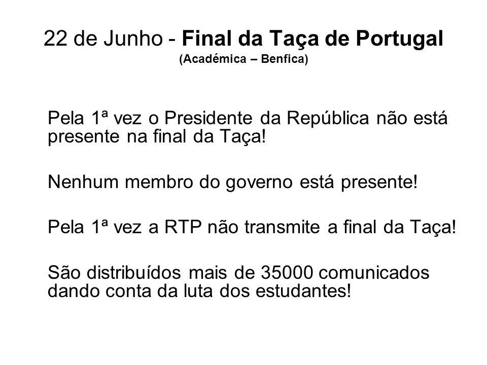 22 de Junho - Final da Taça de Portugal (Académica – Benfica)