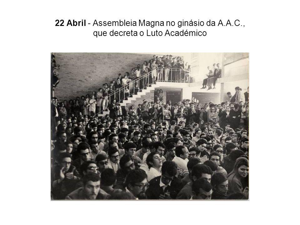 22 Abril - Assembleia Magna no ginásio da A. A. C