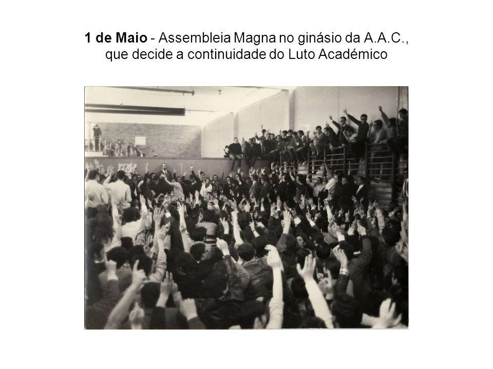 1 de Maio - Assembleia Magna no ginásio da A. A. C