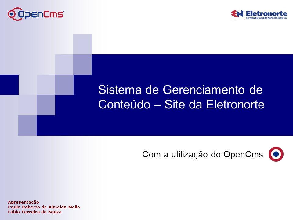 Sistema de Gerenciamento de Conteúdo – Site da Eletronorte