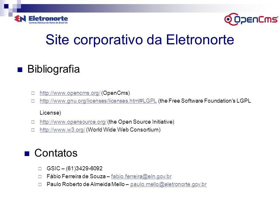 Site corporativo da Eletronorte