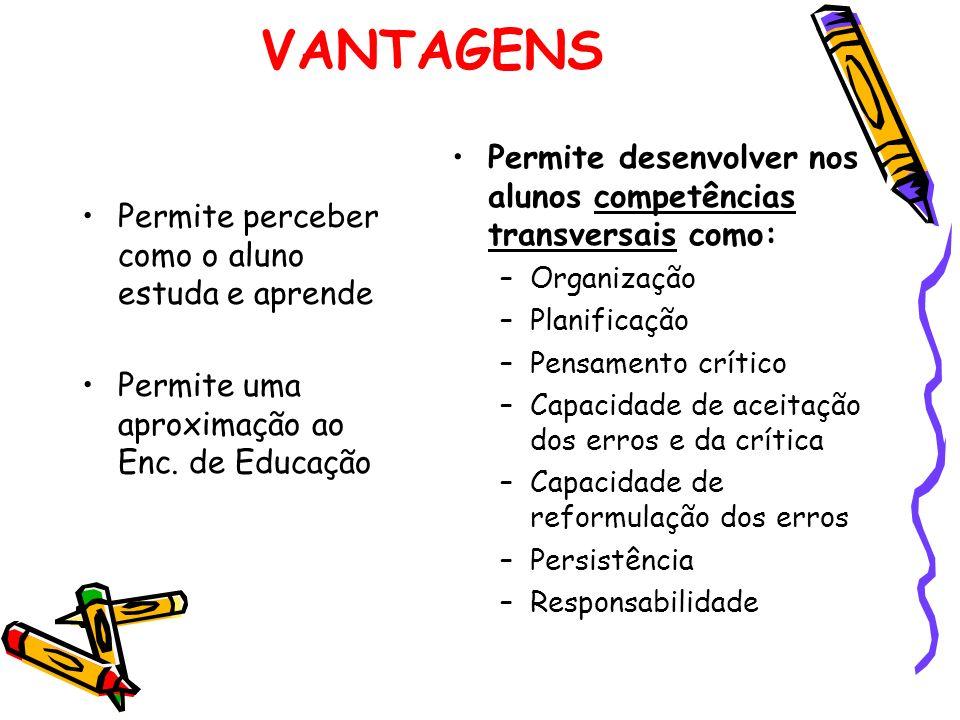 Permite desenvolver nos alunos competências transversais como:
