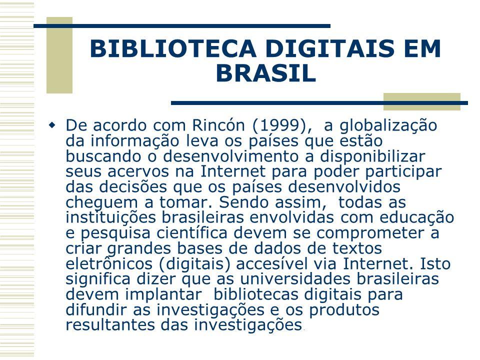 BIBLIOTECA DIGITAIS EM BRASIL