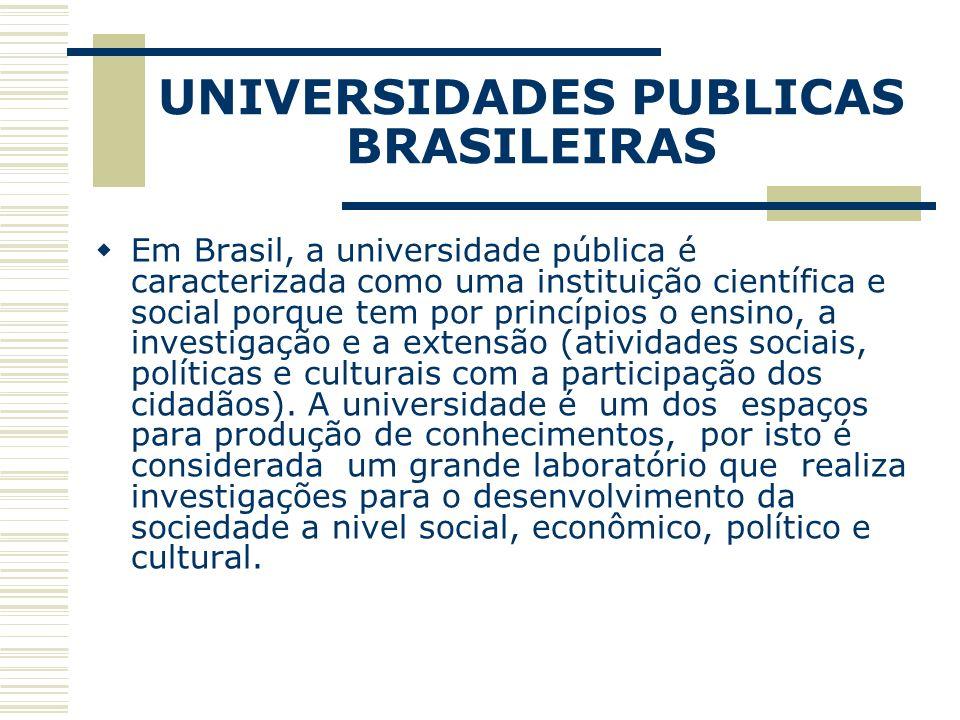 UNIVERSIDADES PUBLICAS BRASILEIRAS