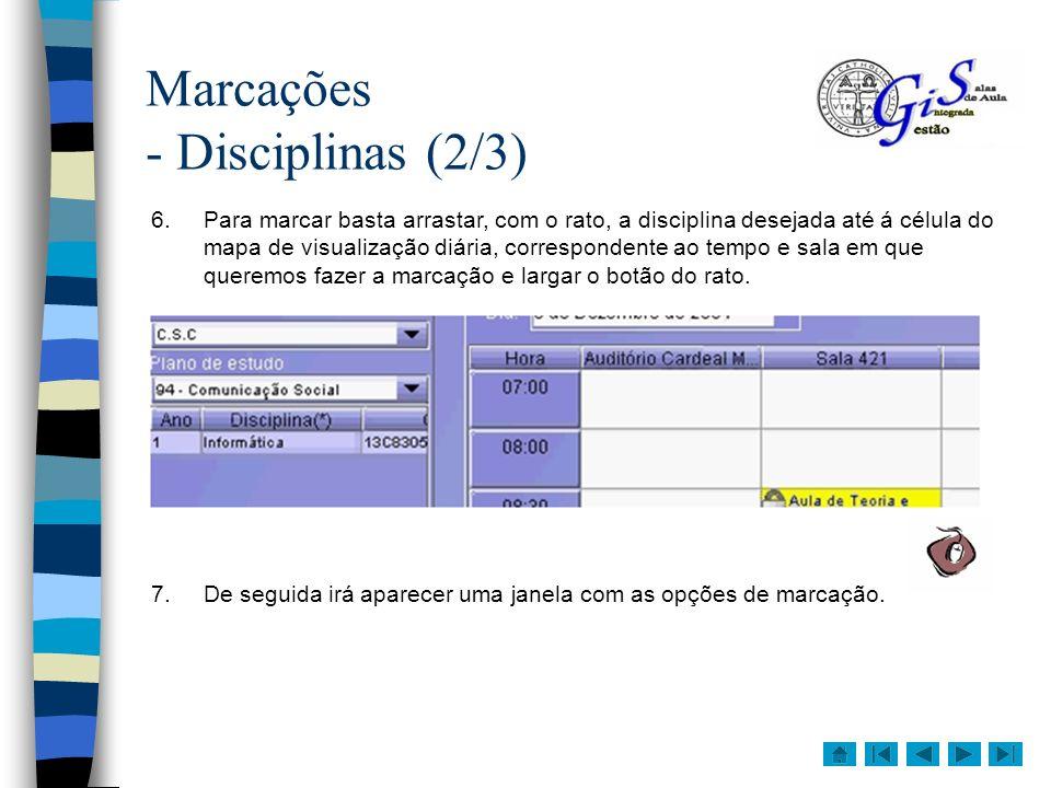Marcações - Disciplinas (2/3)