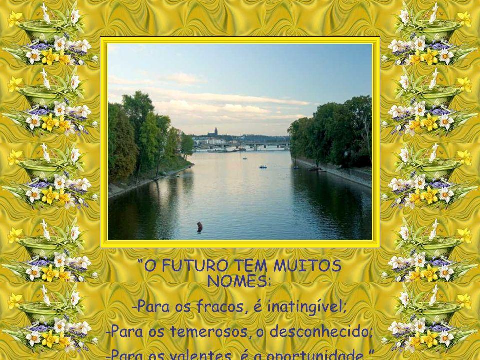 O FUTURO TEM MUITOS NOMES: -Para os fracos, é inatingível;