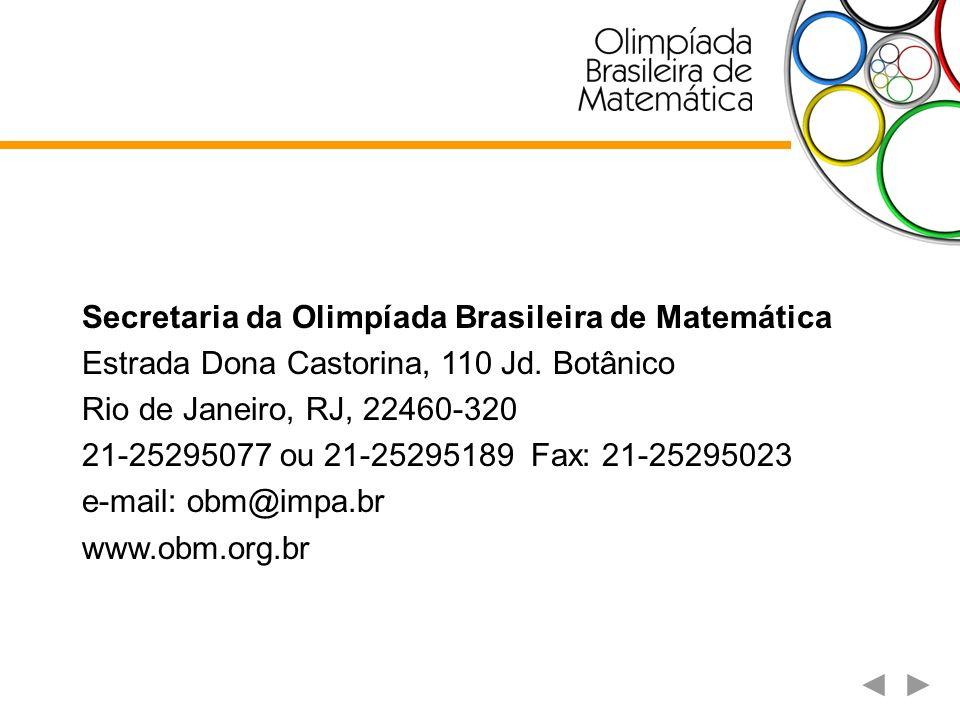 Secretaria da Olimpíada Brasileira de Matemática