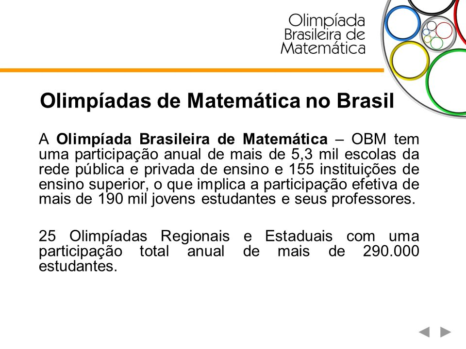Olimpíadas de Matemática no Brasil