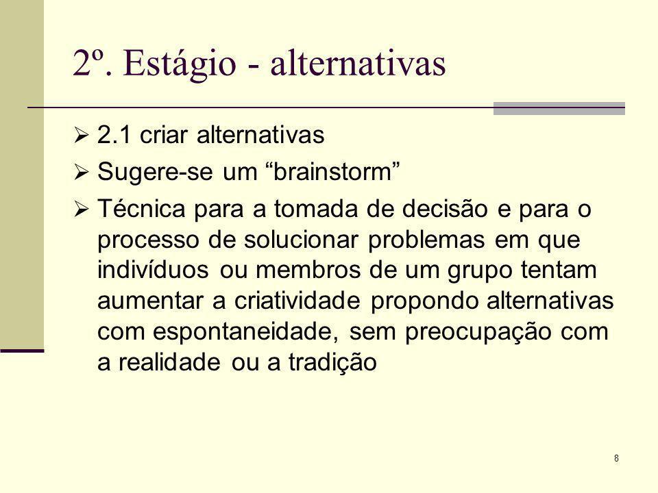 2º. Estágio - alternativas