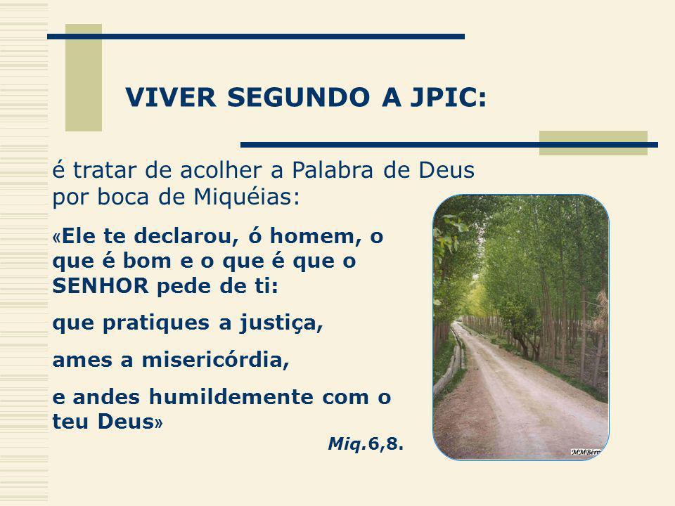 VIVER SEGUNDO A JPIC: é tratar de acolher a Palabra de Deus