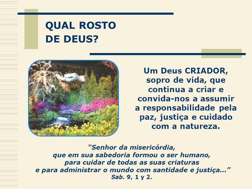 QUAL ROSTO DE DEUS