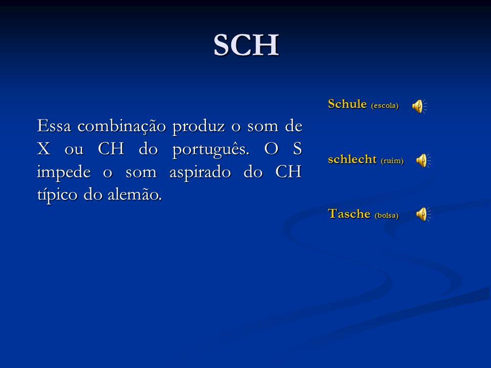 SCH Schule (escola) schlecht (ruim) Tasche (bolsa)