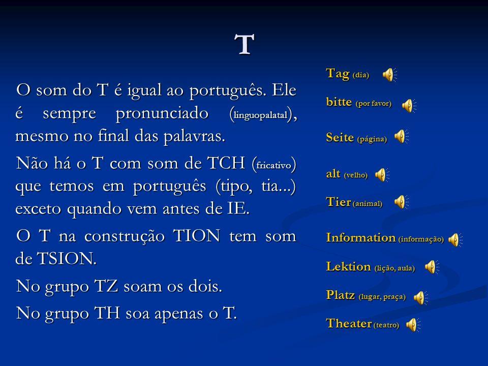 T Tag (dia) bitte (por favor) Seite (página) alt (velho) Tier (animal) Information (informação)