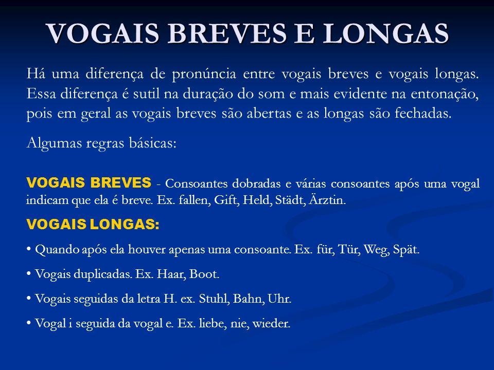 VOGAIS BREVES E LONGAS