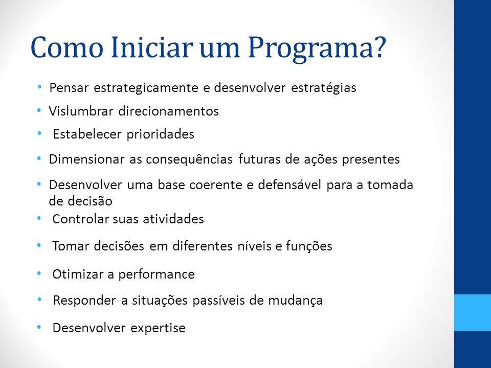 Como Iniciar um Programa