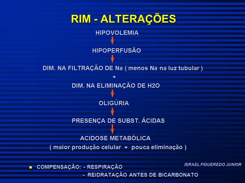 RIM - ALTERAÇÕES HIPOVOLEMIA HIPOPERFUSÃO