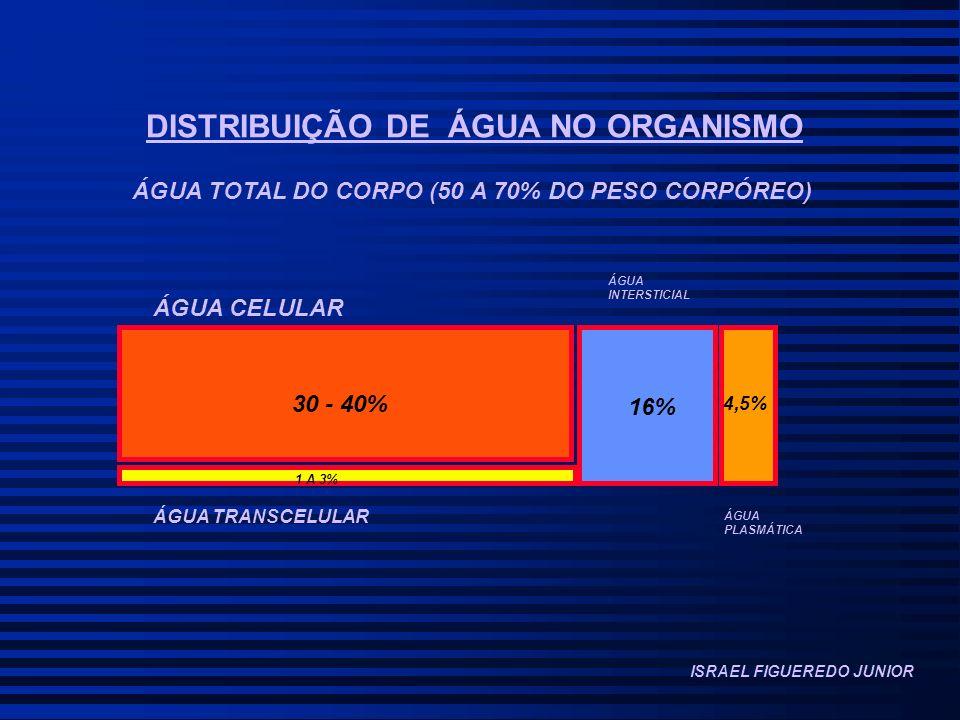 DISTRIBUIÇÃO DE ÁGUA NO ORGANISMO