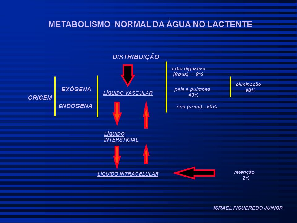 METABOLISMO NORMAL DA ÁGUA NO LACTENTE