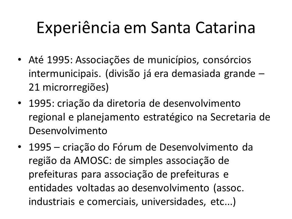 Experiência em Santa Catarina