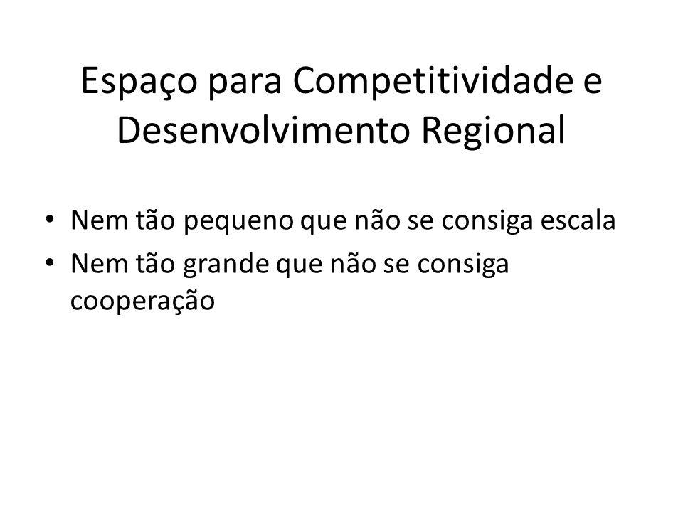 Espaço para Competitividade e Desenvolvimento Regional