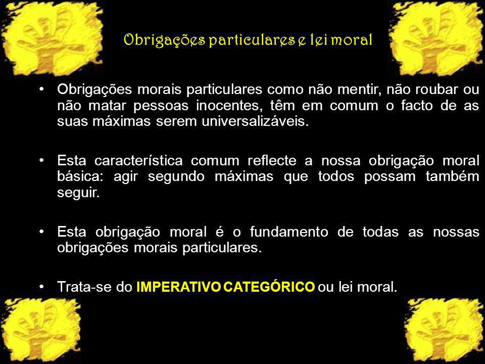 Obrigações particulares e lei moral