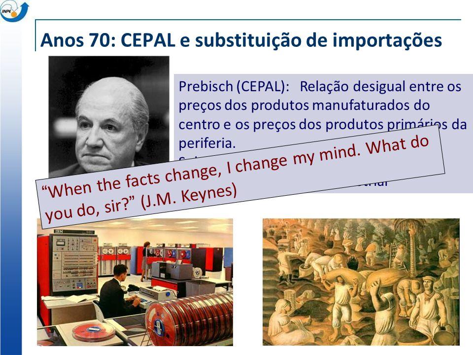 Anos 70: CEPAL e substituição de importações