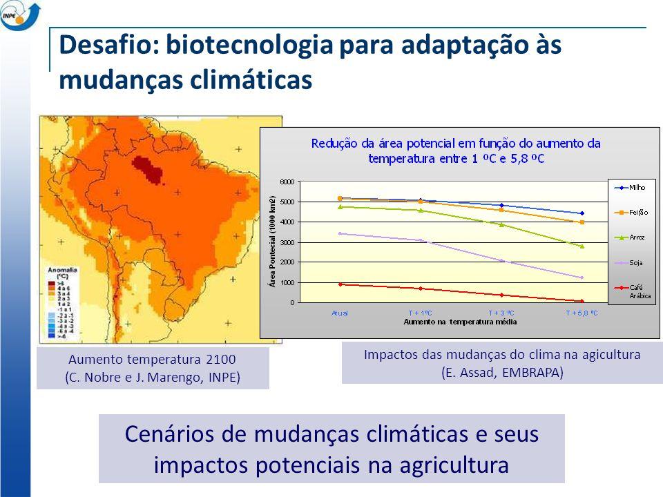 Desafio: biotecnologia para adaptação às mudanças climáticas