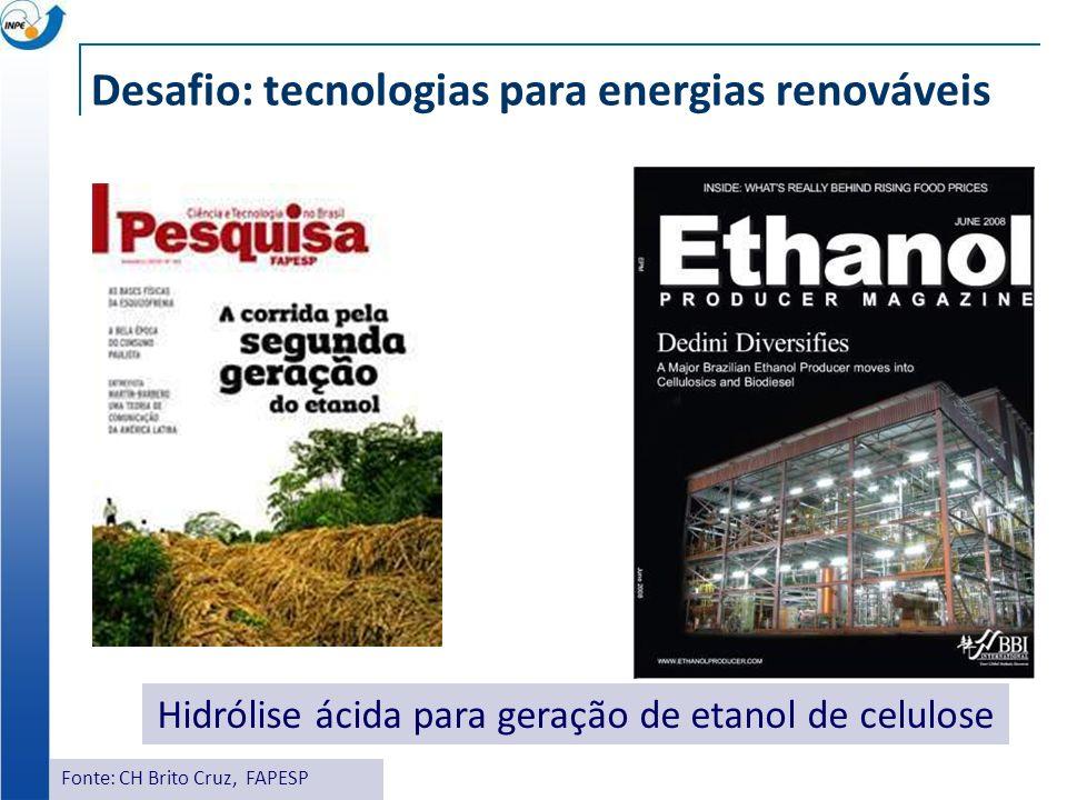 Desafio: tecnologias para energias renováveis