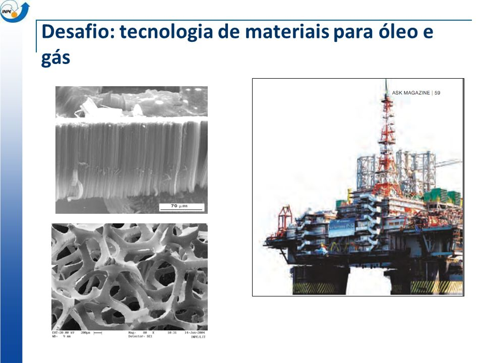 Desafio: tecnologia de materiais para óleo e gás