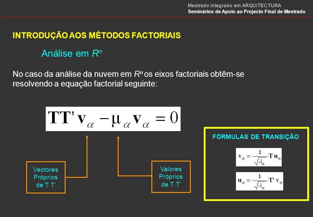 Análise em Rn INTRODUÇÃO AOS MÉTODOS FACTORIAIS