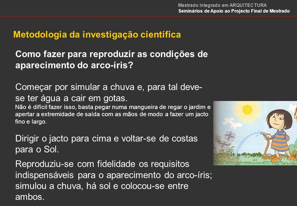 Metodologia da investigação científica