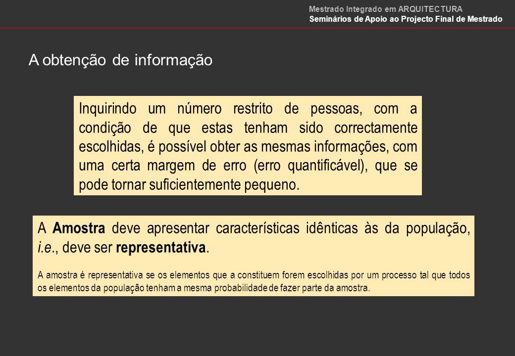 A obtenção de informação