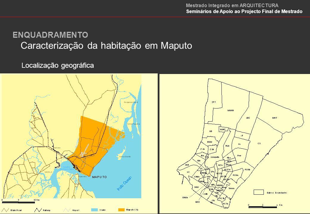 Caracterização da habitação em Maputo