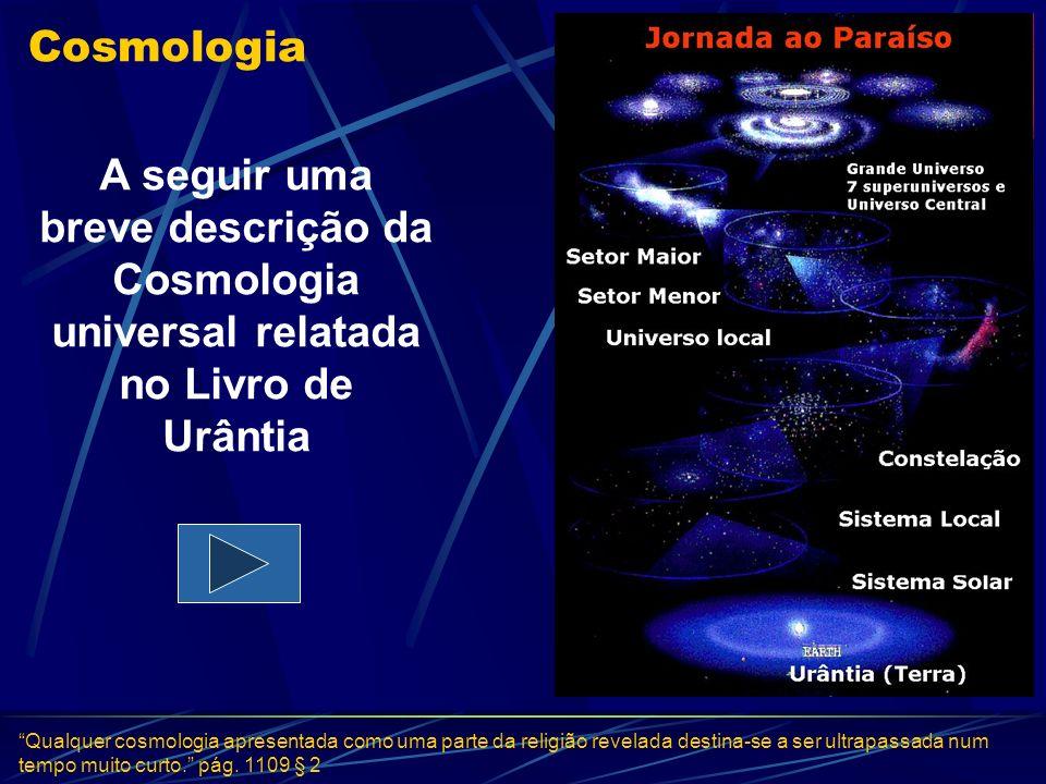 Cosmologia A seguir uma breve descrição da Cosmologia universal relatada no Livro de Urântia.