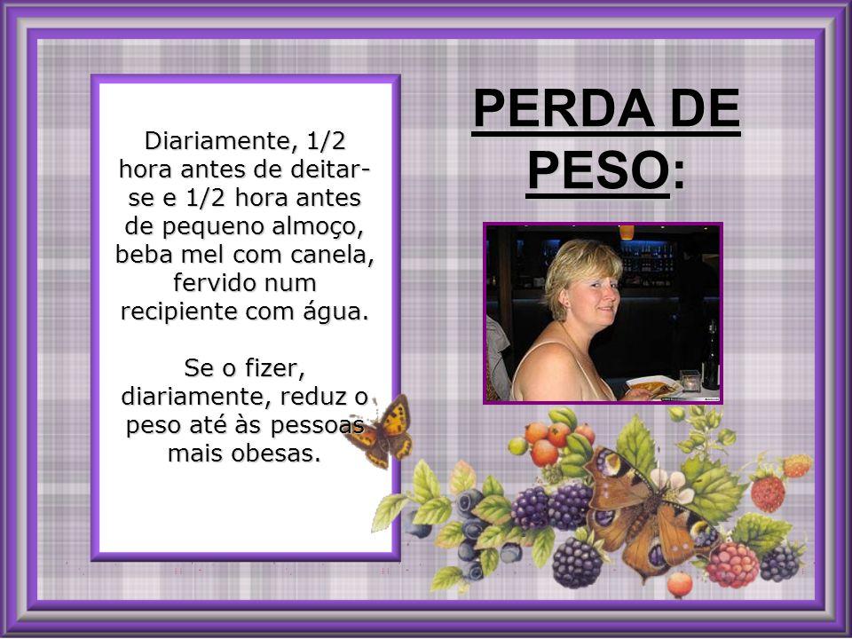 PERDA DE PESO:
