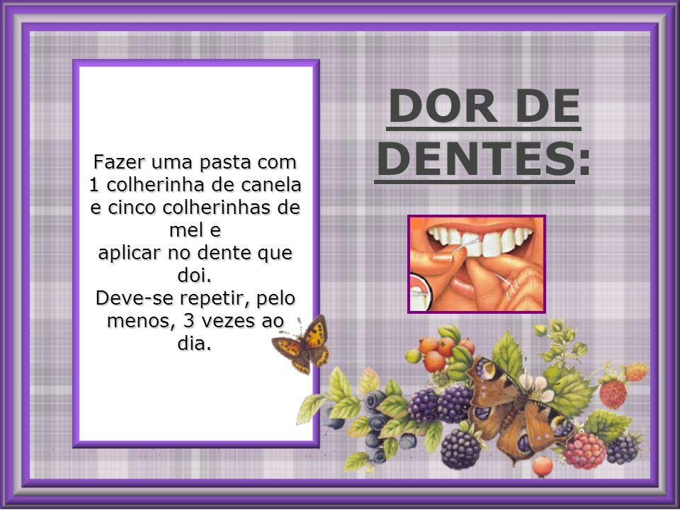 DOR DE DENTES: