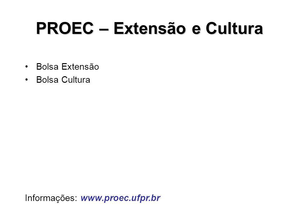 PROEC – Extensão e Cultura
