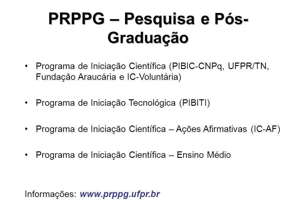 PRPPG – Pesquisa e Pós-Graduação