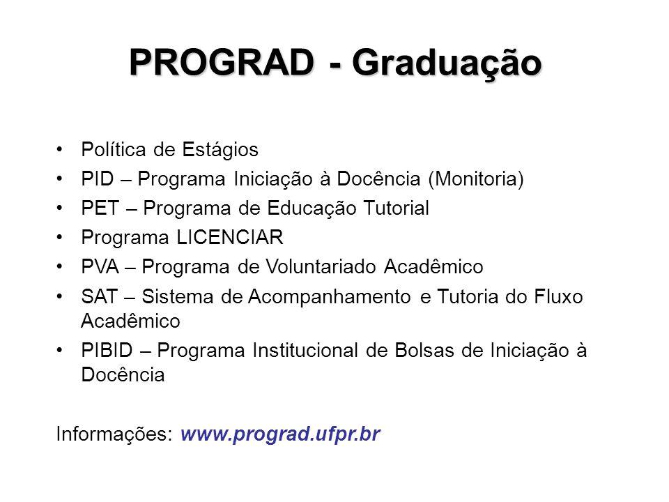 PROGRAD - Graduação Política de Estágios