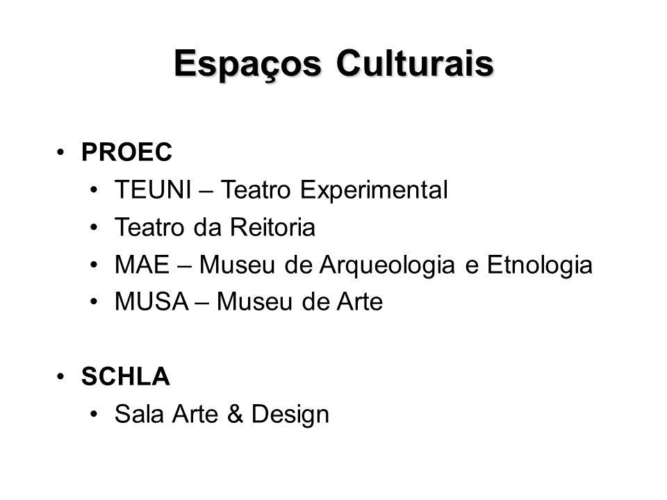 Espaços Culturais PROEC TEUNI – Teatro Experimental Teatro da Reitoria