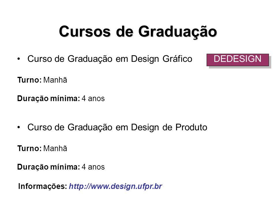 Cursos de Graduação Curso de Graduação em Design Gráfico