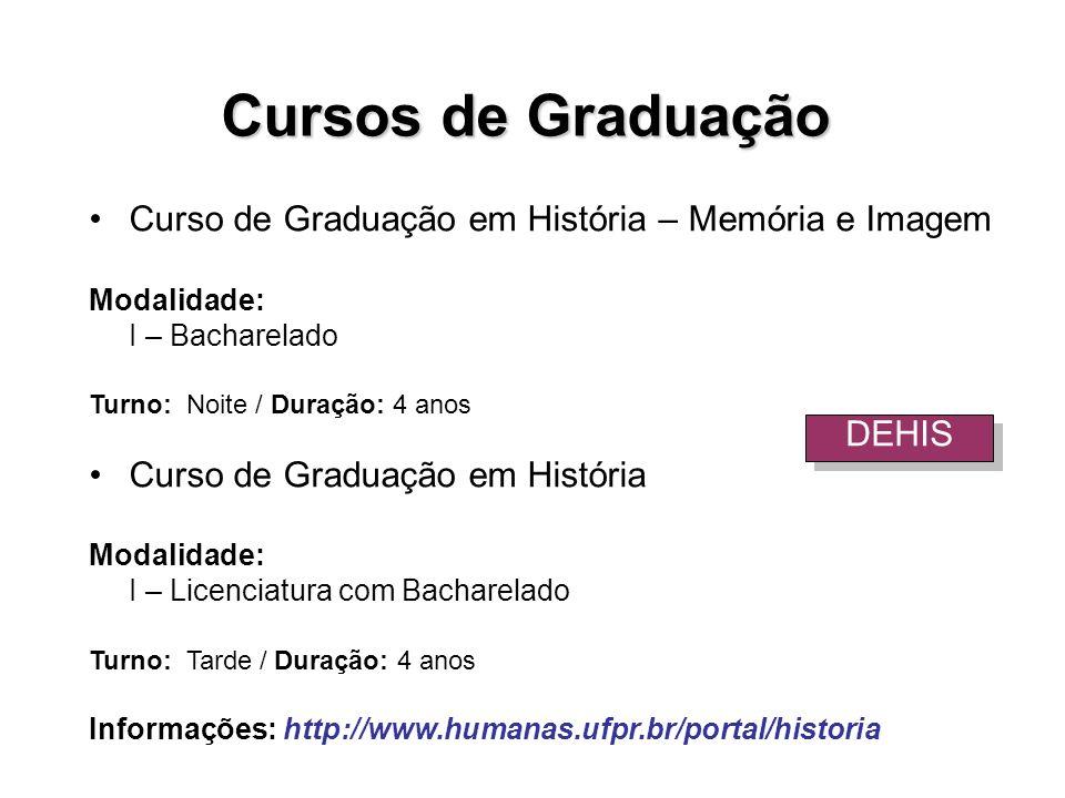 Cursos de Graduação Curso de Graduação em História – Memória e Imagem