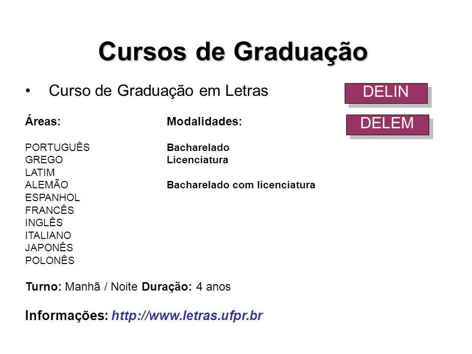 Cursos de Graduação Curso de Graduação em Letras DELIN DELEM