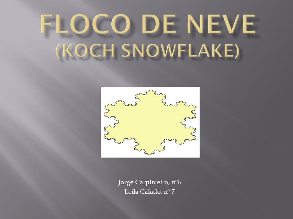 Floco de Neve (Koch snowflake)